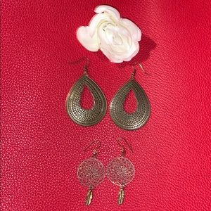 Two Pairs of Dangly Earrings